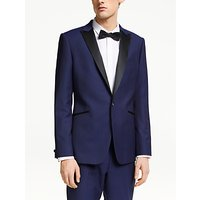 Kin Jacquard Weave Slim Fit Dress Suit Jacket, Blue