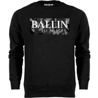 Ballin Est. 2013  Camo Grey Sweat  men's Sweatshirt in Black