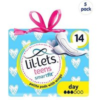 Lil-Lets Teens Day Ultra Pads with wings 70 Pads - (5 pack Bundle)