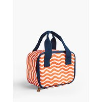 John Lewis & Partners Bohemian Summer Geo Print Picnic Cooler Bag, 3.5L, Orange