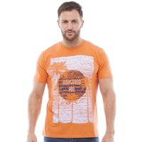 Kangaroo Poo Mens Printed T-Shirt Orange