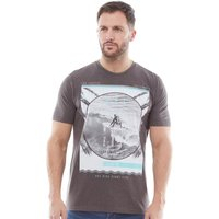Kangaroo Poo Mens Printed T-Shirt Dark Grey