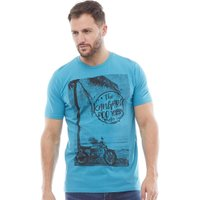 Kangaroo Poo Mens Printed T-Shirt Blue