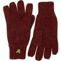 Lyle And Scott Vintage Mens Mouline Gloves Tomato Red