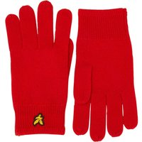 Lyle And Scott Vintage Mens Racked Rib Gloves Tomato Red