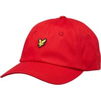 Lyle And Scott Vintage Mens Cotton Twill Baseball Cap Tomato Red
