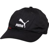 Puma Mens Logo BB Cap Black/White/Red