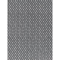 Quality Textiles Leaf Stamp Print Fabric, Grey
