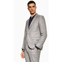 Mens Grey Check Slim Blazer, Grey