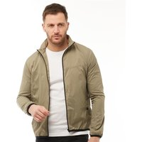 French Connection Mens Funnel Tech Jacket Light Khaki