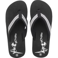Mad Wax Mens Striped Thong Flip Flops Black