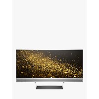 HP ENVY 34 Curved Wide LED Display Monitor, 34 Quad HD, Black/Silver