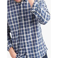 Joules Welford Textured Check Shirt, Navy