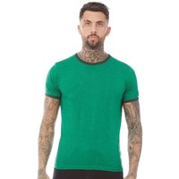 Brave Soul Mens 149 Tallon T-Shirt Jade Green Marl/Bottle Green