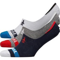 Original Penguin Mens Three Pack Trainer Liner Socks White/Grey/Black