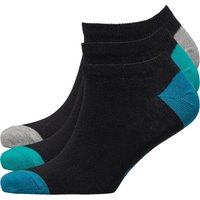 Original Penguin Mens Three Pack Trainer Liner Socks Black