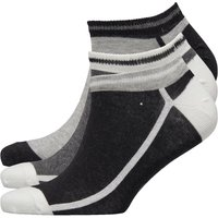 Original Penguin Mens Three Pack Trainer Liner Socks Black/Grey