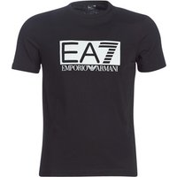 Emporio Armani EA7  TRAIN VISIBILITY  men's T shirt in Black