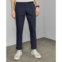Slim Fit Cotton Check Trousers