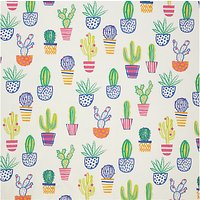 John Lewis & Partners Cacti PVC Table Covering Fabric, Multi