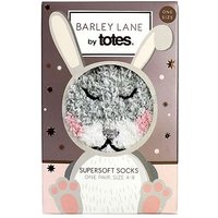 Totes Barley Lane Bunny Cosy Sock, One Size 4-8
