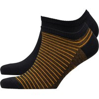 Levi's Mens 168SF Sneaker Two Pack Socks Black/Yellow