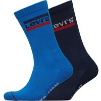 Levi's Mens Sports Logo Crew Two Pack Socks Blue/Black