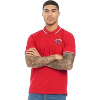 Fred & Boston Mens Pique Polo Red