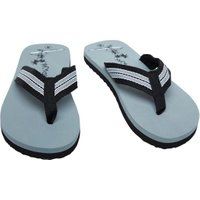 Mad Wax Mens Striped Thong Flip Flops Grey