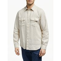 PS Paul Smith Long Sleeve Pocket Linen Shirt, Ecru