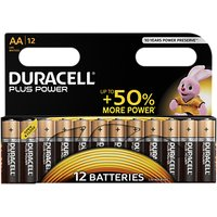 Duracell Plus Power 1.5V Alkaline AA Batteries, Pack of 12