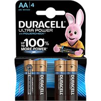 Duracell Ultra Power 1.5V Alkaline AA Batteries, Pack of 4