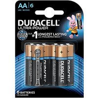 Duracell Ultra Power 1.5V Alkaline AA Batteries, Pack of 6