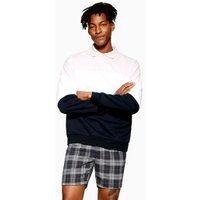 Mens Navy Check Shorts, Navy