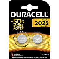 DURACELL 3V Lithium Coin Battery, 2025, Pack of 2