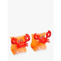 Sunnylife Children's Crabby Float Bands, Red/Orange