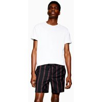 Mens Navy And Red Stripe Pull On Shorts, Navy