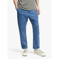 Edwin Universe Regular Tapered Cropped Jeans, Mid Stone