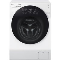 LG FH4G1BCS2 Freestanding Washing Machine, 12kg Load, A+++ Energy Rating, 1400rpm Spin, White