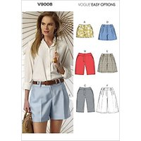 Vogue Women's Shorts Sewing Pattern, 9008
