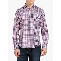 Eden Park Cotton Check Shirt, Pink/Navy