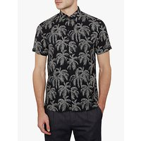 Ted Baker Palmcol Palm Print Shirt, Navy Blue
