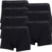 French Connection Mens Seven Pack Boxer Trunks Black