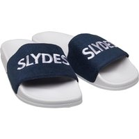 SLYDES Mens Plya Sliders White Navy