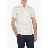 Ted Baker Piapple Pineapple Print Shirt, White