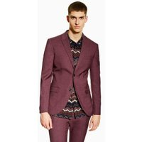Mens Red Burgundy Super Skinny Blazer, Red