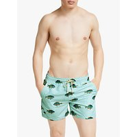 OAS Blue Fish Swim Shorts, Green/Yellow