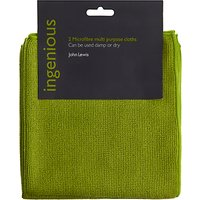 John Lewis & Partners Ingenious Microfibre Cleaning Cloths, Pack of 2