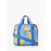 Joules Lemons Picnic Cooler Bag, Yellow/Blue, 28L