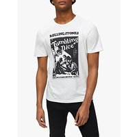 SELECTED HOMME Rolling Stones Tumbling Dice T-Shirt, Egret